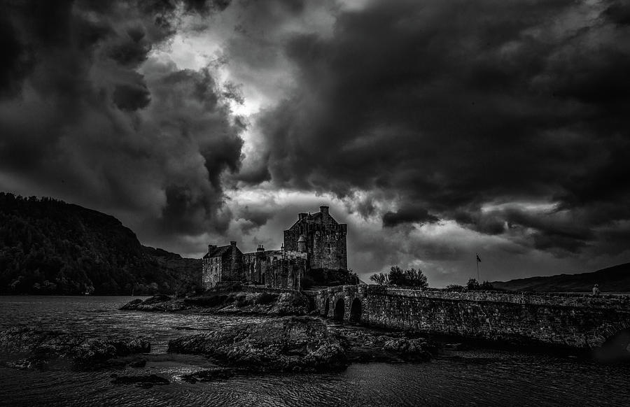 Dark Clouds Photograph - Dark Clouds Bw #h2 by Leif Sohlman