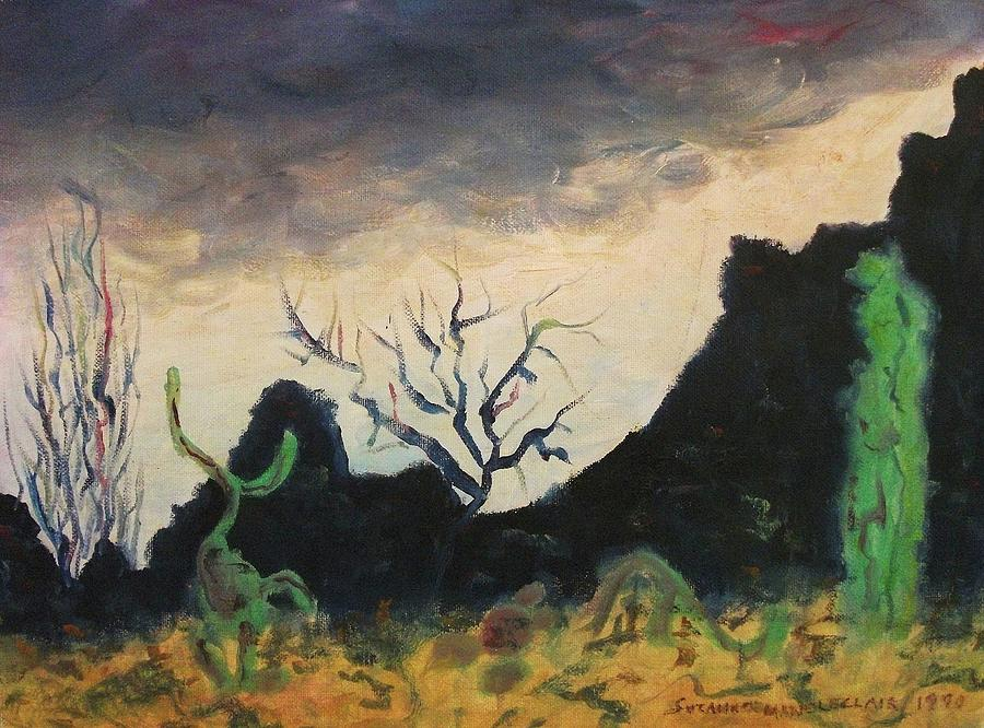 Landscape Painting - Dark Feeling by Suzanne  Marie Leclair