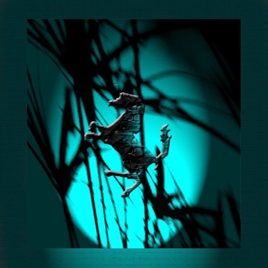 Dark Digital Art - Dark Horse 7 by Debolina Moitra