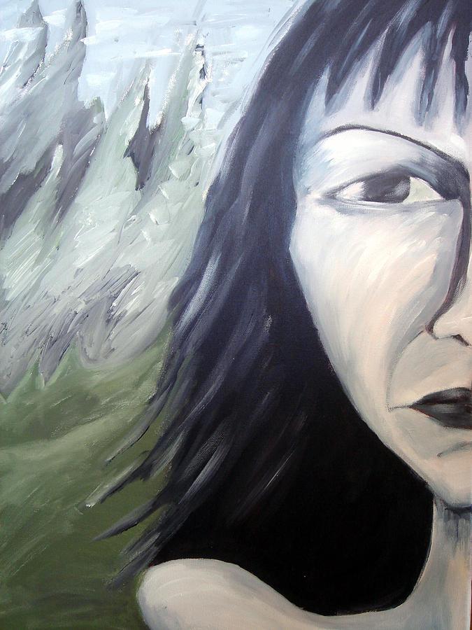 Portrait Painting - Dark by Jenni Walford