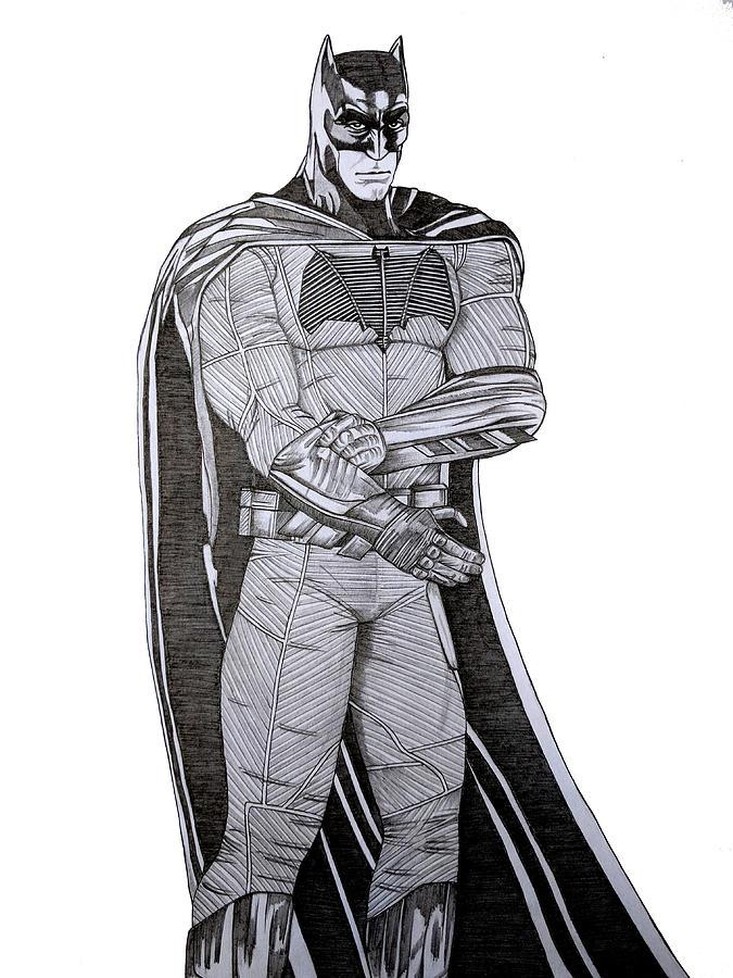 Batman Drawing - Dark Knight by Harshvardhan Pande