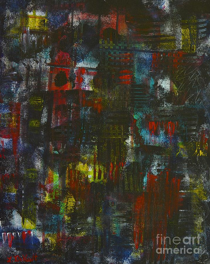 Abstract Painting - Dark by Laurie DeVault