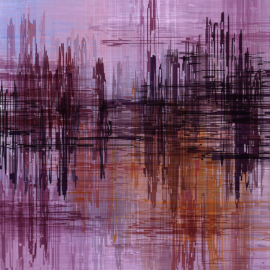 Dark Lines Abstract And Minimalist Painting