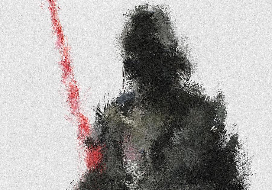 Darth Vader Painting - Dark Lord by Miranda Sether