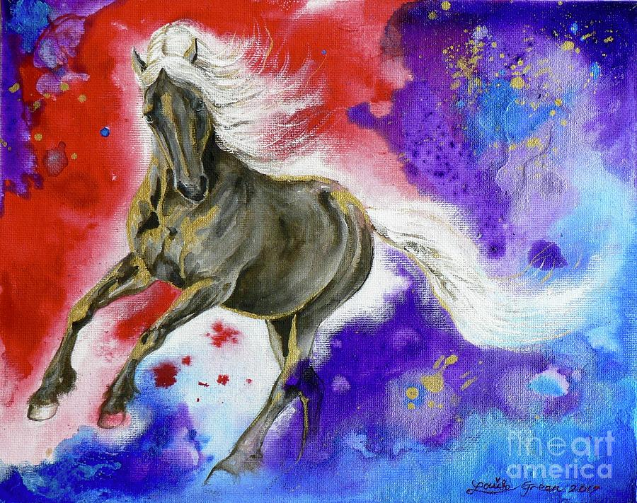 Dark Horse Mixed Media - Dark Magic by Louise Green