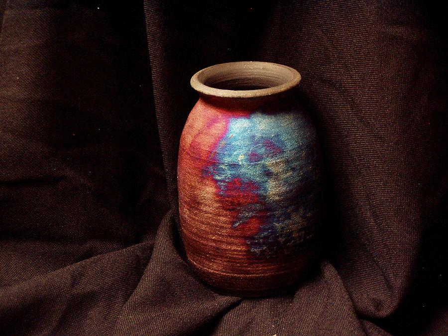 Raku Ceramic Art - Dark Nebulae by Jude  Winchester