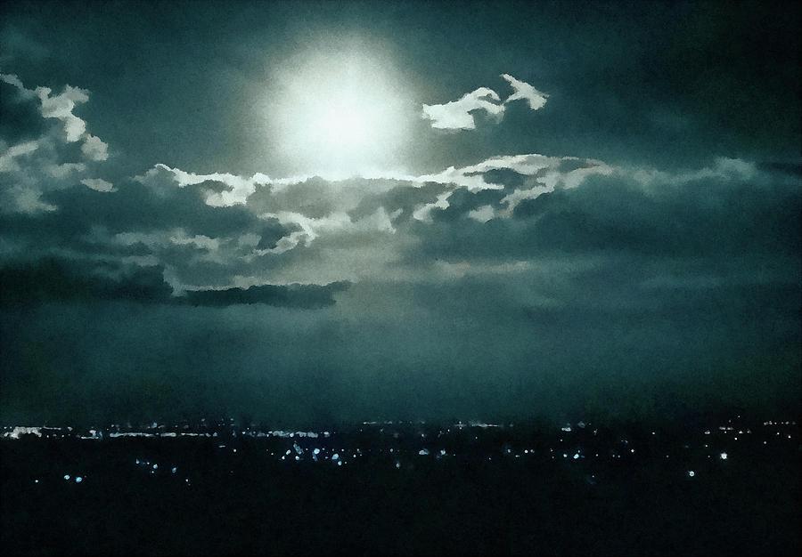 Moon Digital Art - Dark Night by Pall Kris