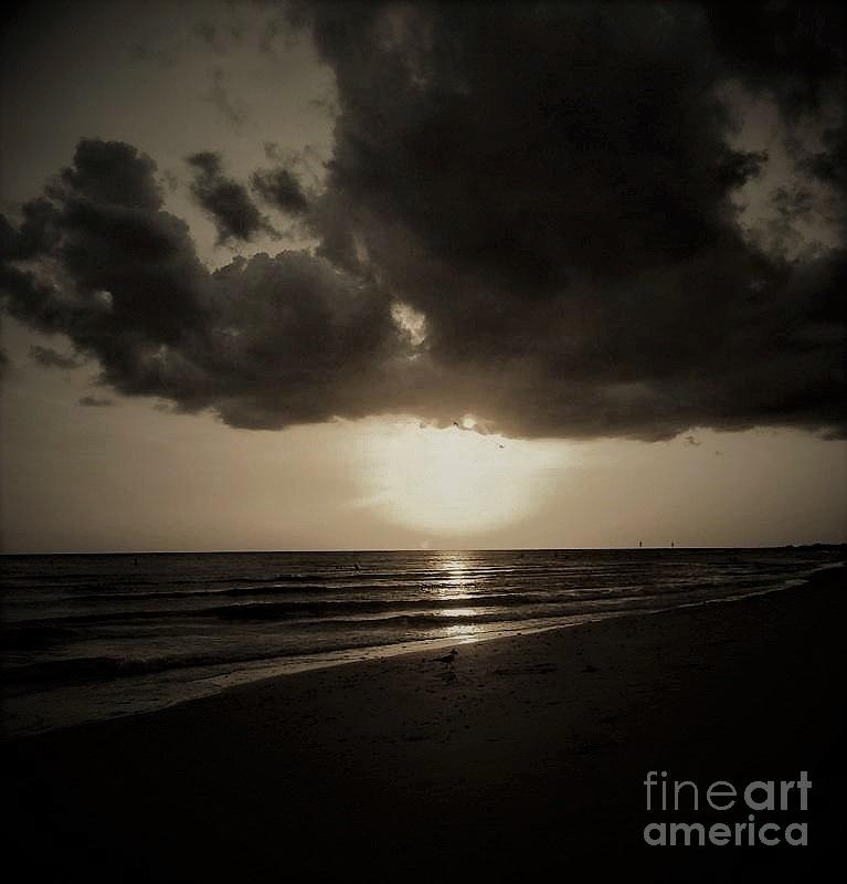 Beach Photograph - Dark Ocean 1 by Amanda Currier
