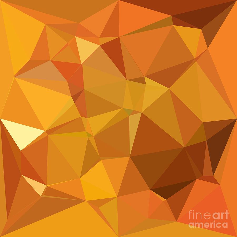 dark orange yellow abstract low polygon background digital