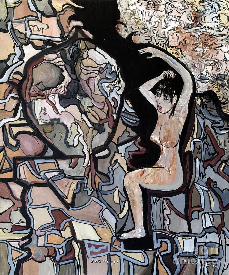 Woman Painting - Dark Passage by Morgan Long