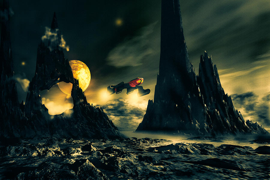 Science Fiction Mixed Media - Dark Planet by Bob Orsillo