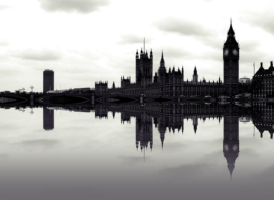 London Photograph - Dark Reflections by Sharon Lisa Clarke