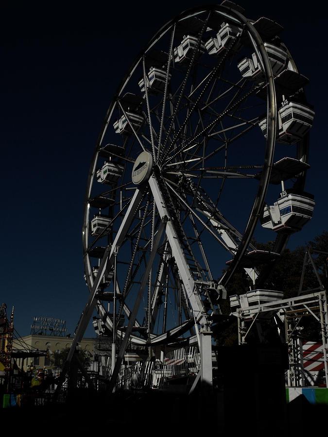 Ferris Wheel Photograph - Dark Ride by Kristie  Bonnewell