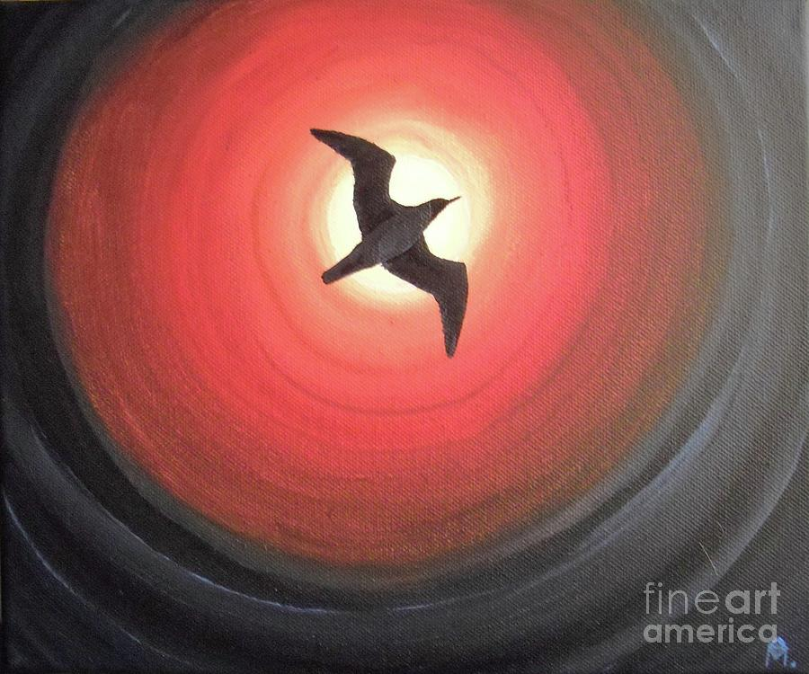 Seagull Painting - Dark Seagull by Melina Mel P