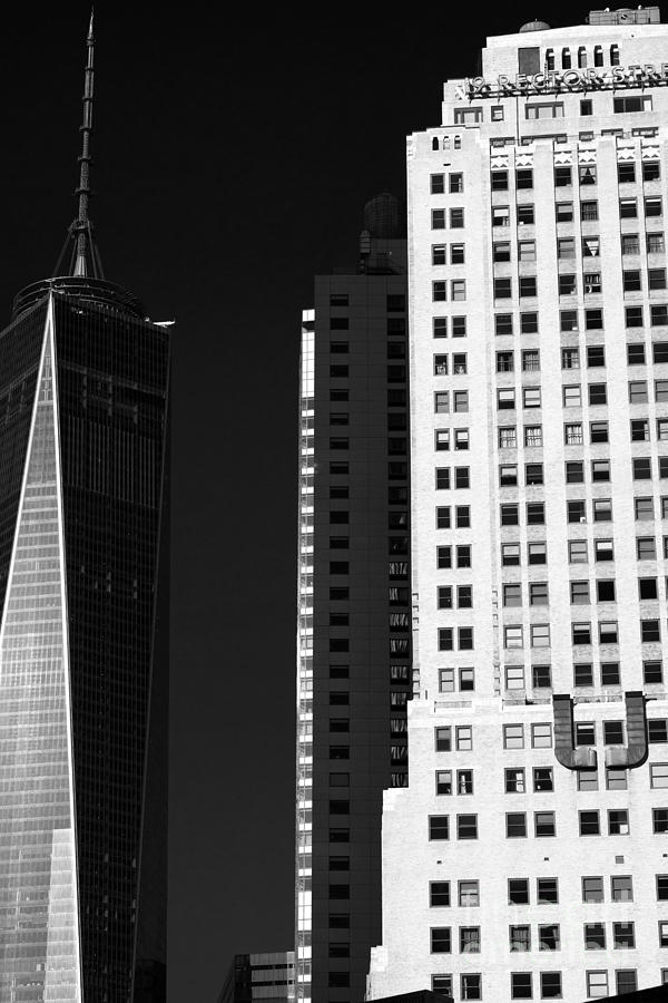 Freedom Tower Photograph - Dark Shadow Downtown by John Rizzuto