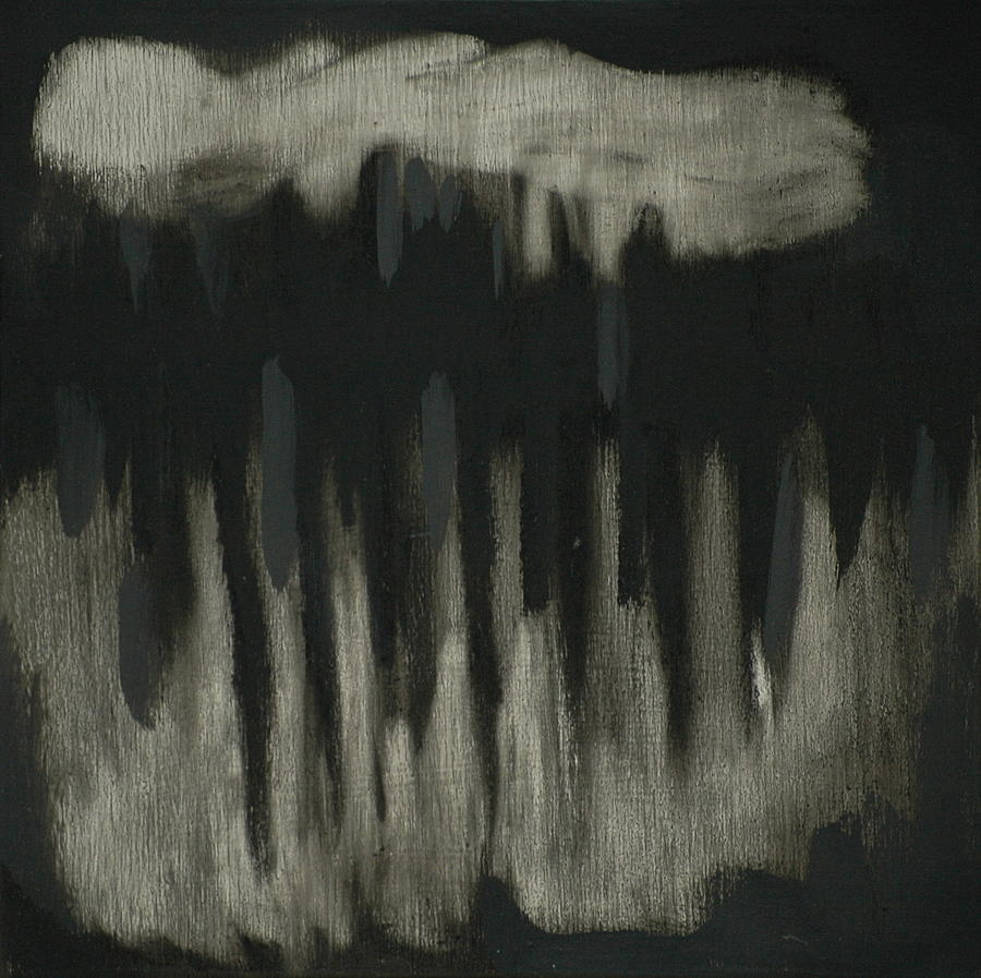 Abstract Landscape Painting - Dark Showers by Liz Maxfield