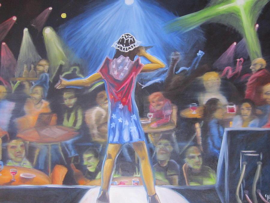 Concert Painting - Dark Singing by Jay Sisneros