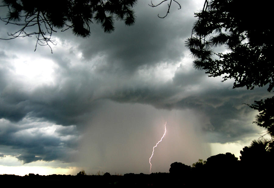 Thunderstorms Photograph - Dark Skies by Garry Turpin