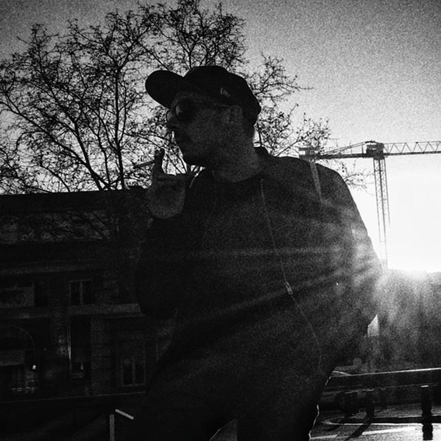 Madrid Photograph - Dark Smoker #shilouette #people by Rafa Rivas