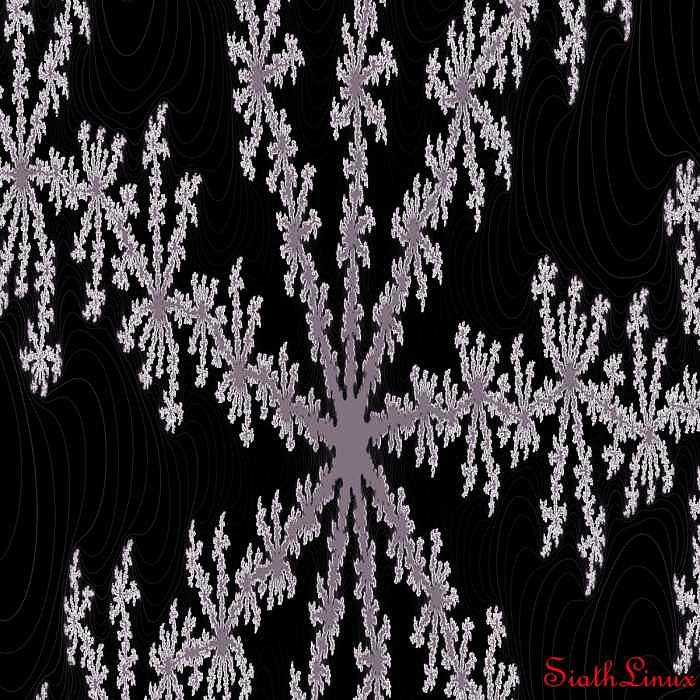Fractal Digital Art - Dark Snow by Randal Lovelace