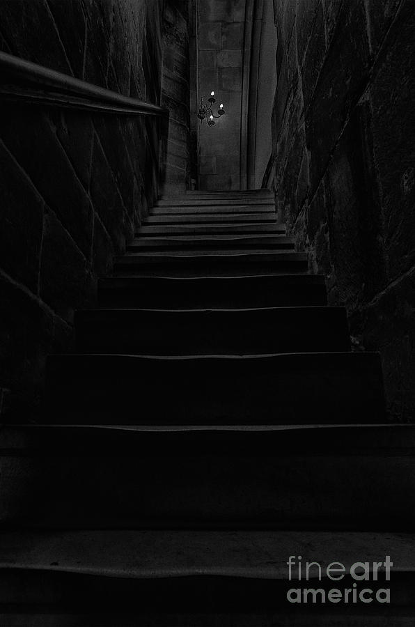 Steps Photograph - Dark Stairway by Steev Stamford
