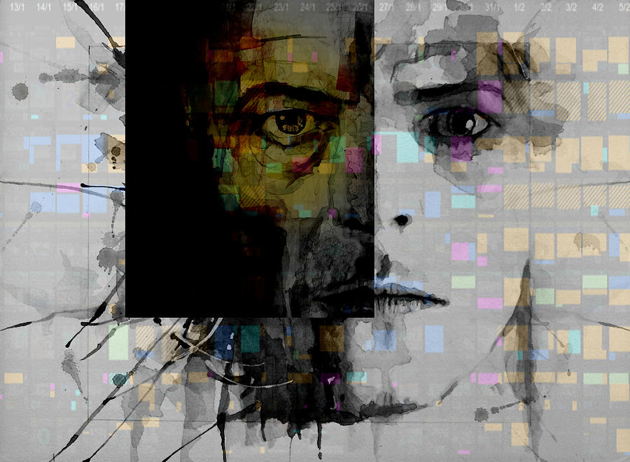 Bowie Painting - Dark Star by Paul Lovering