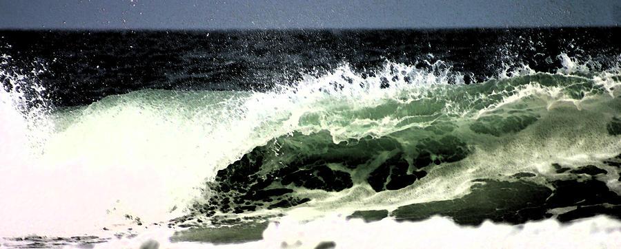 Wave Photograph - Dark Stroke Wave by Kimberly Klein