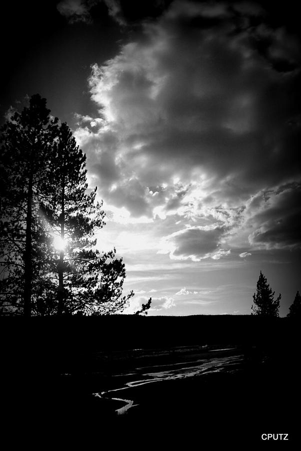 Yellowstone National Park Photograph - Dark Sunset by Carrie Putz