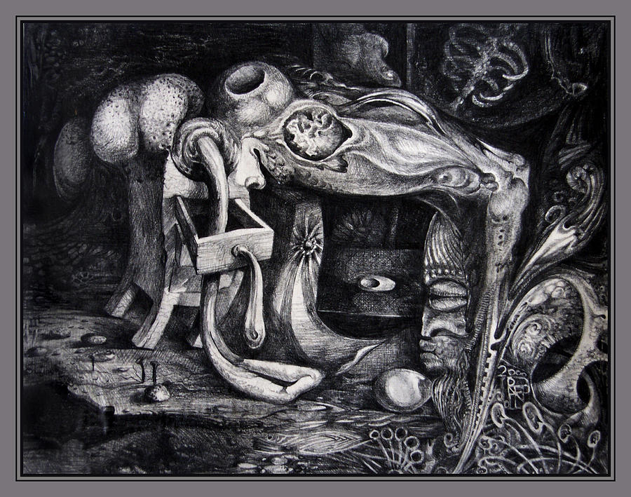 Drawing Drawing - Dark Surprise by Otto Rapp