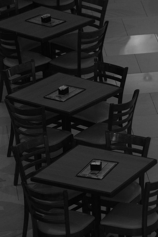 Tables Photograph - Dark Tables by Rob Hans