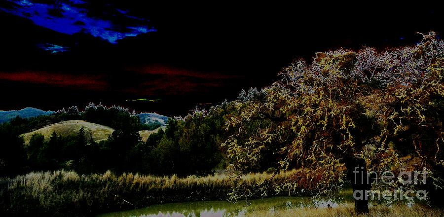 Night Photograph - Darkness At The Edge Of Dawn by JoAnn SkyWatcher
