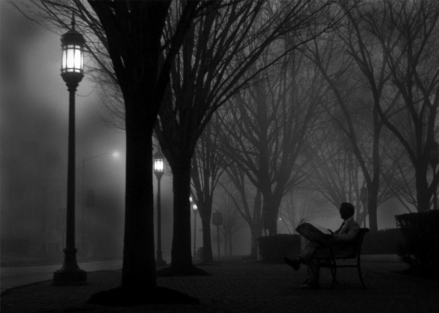 Night Photograph - Darkness Falls by Lori Deiter