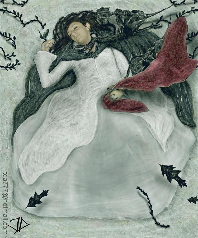 Fantasy Digital Art - Darkness by T D