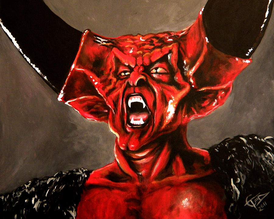 Tim Curry Painting - Darkness by Tom Carlton
