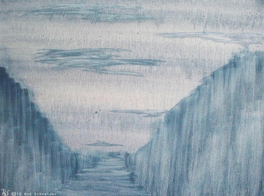 Abstract Painting - Darkworld I by Rod Schneider