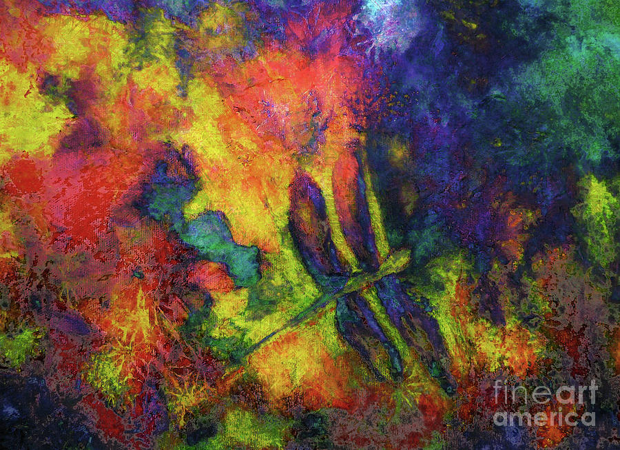 Dragonfly Painting - Darling Darker Dragonfly by Claire Bull