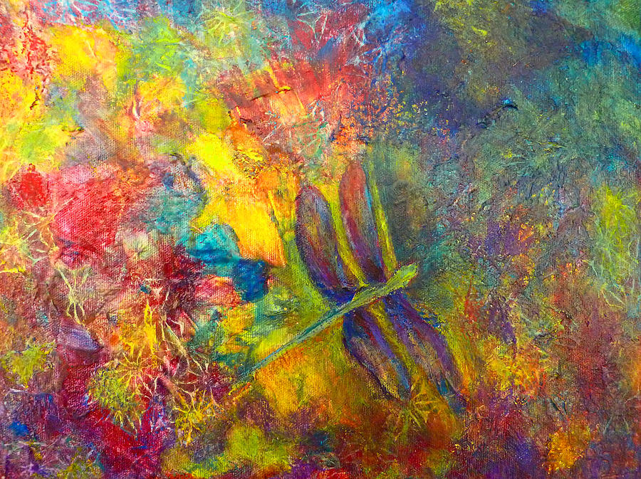 Dragonfly Painting - Darling Dragonfly by Claire Bull