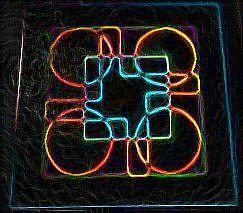 Neon Painting - Darnilliouscope Lami Tile Neon by Darnillious Designs