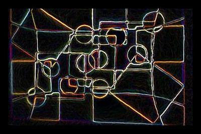 Darnilliouscope Neon Lrg Painting by Darnillious Designs