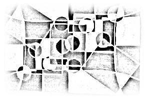 Sketch Painting - Darnilliouscope Sketch Blk - Wht Lrg by Darnillious Von Neegro