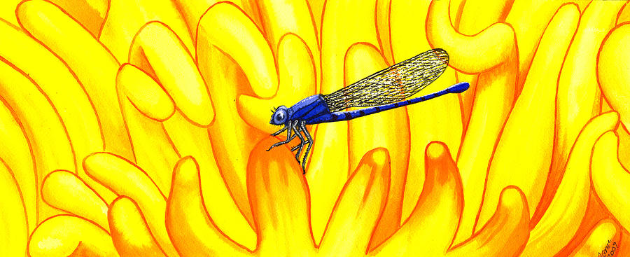 Insect Painting - Darning Needle by Catherine G McElroy