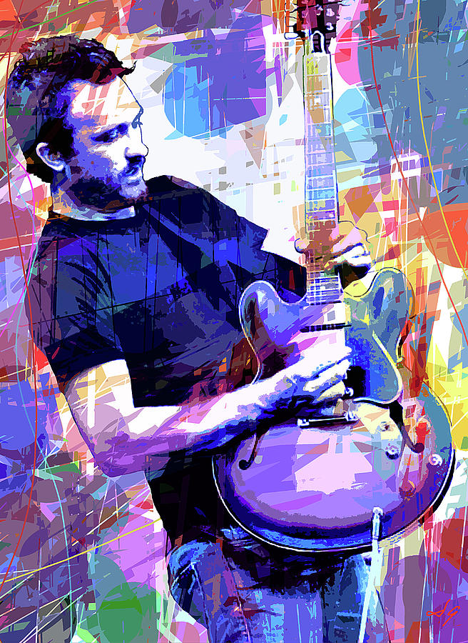 Blues Painting - Darren Glover - Blues Note by David Lloyd Glover