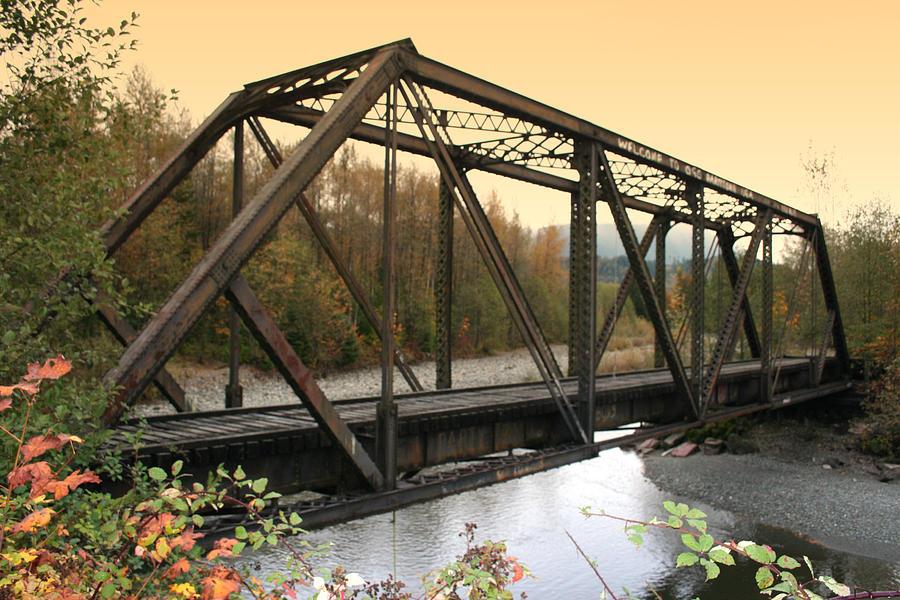 Bridge Photograph - Darrington Bridge Br-6002 by Mary Gaines