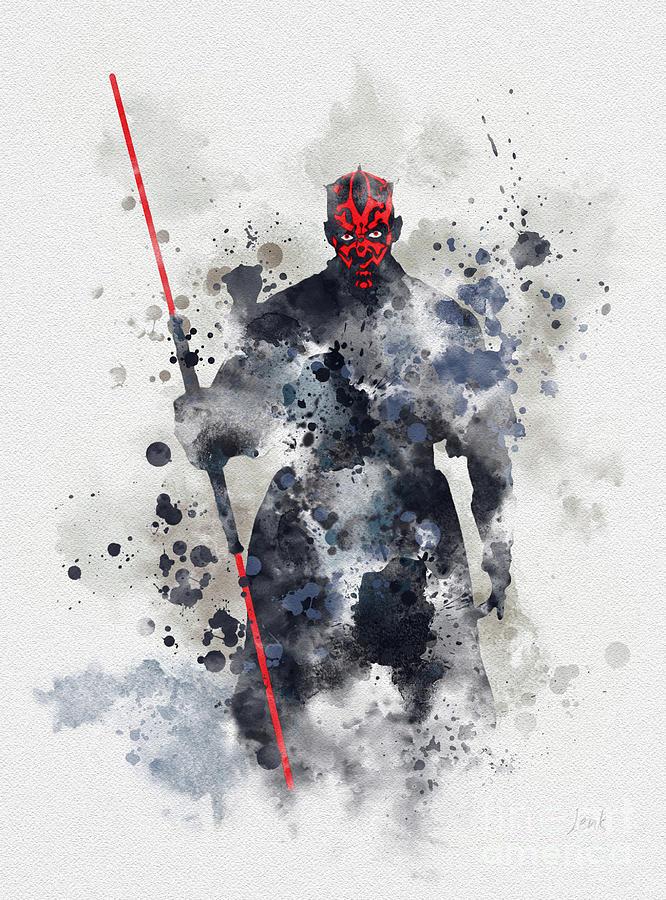Star Wars Mixed Media - Darth Maul by My Inspiration