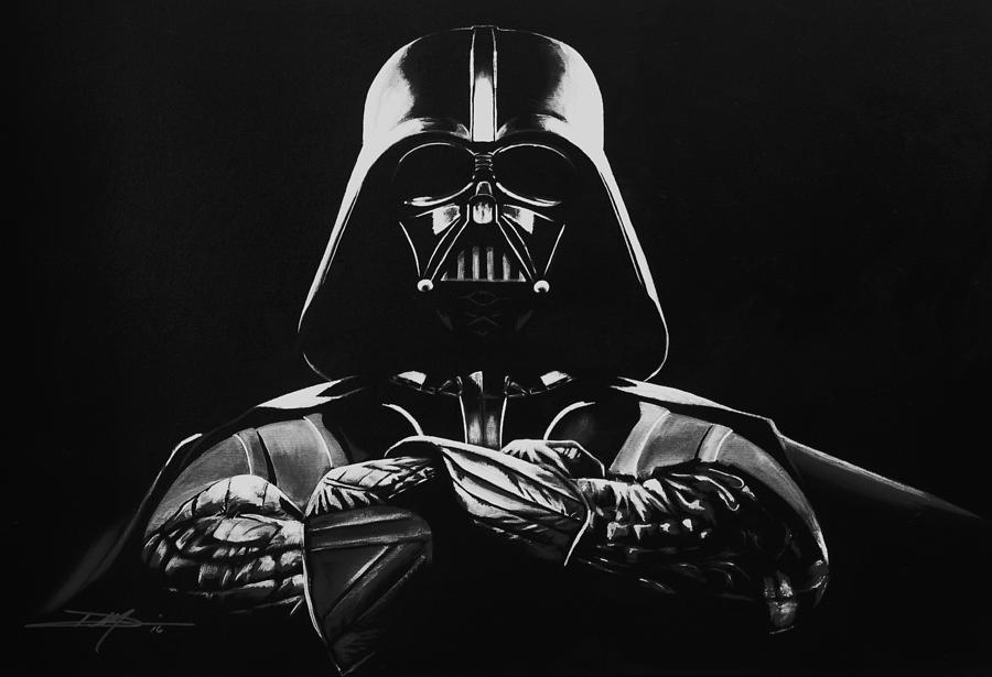 Darth Vader Drawing - Darth Vader by Don Medina
