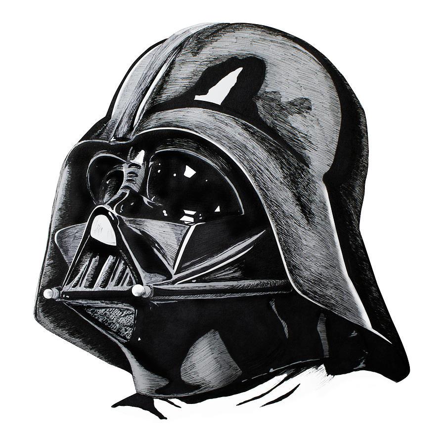 Rey Drawing - Darth Vader by Ivan Florentino Ramirez