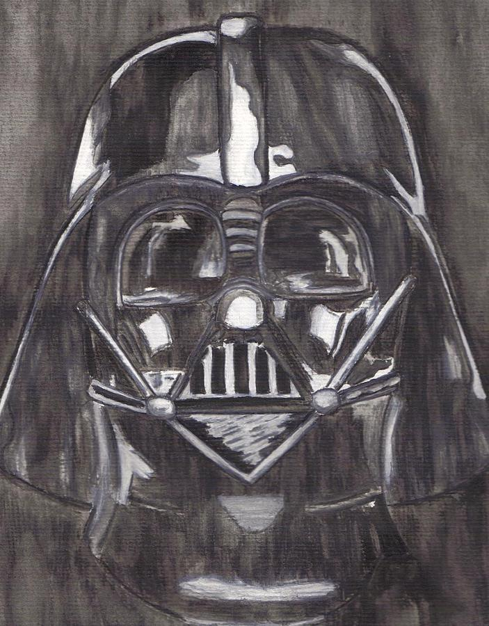 Movies Painting - Black And White Star  by Jill Christensen
