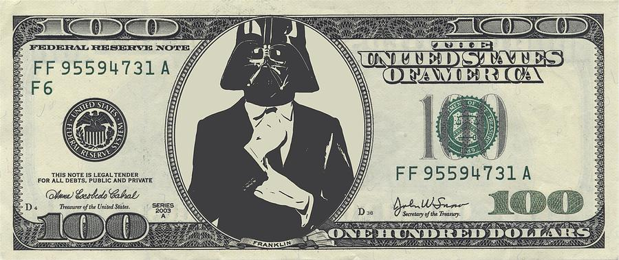 Darth Vader Money Digital Art By Dan Sproul