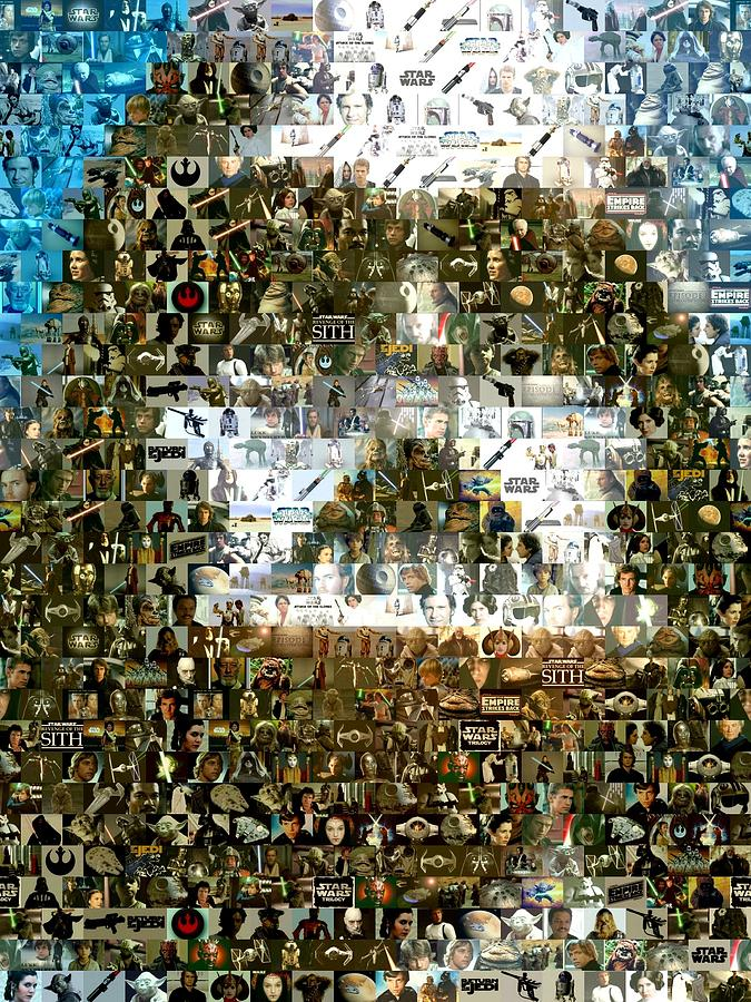 Darth Vader Digital Art - Darth Vader Mosaic by Paul Van Scott