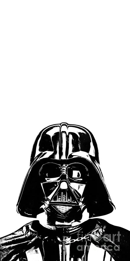 Star Photograph - Darth Vader Painting by Edward Fielding